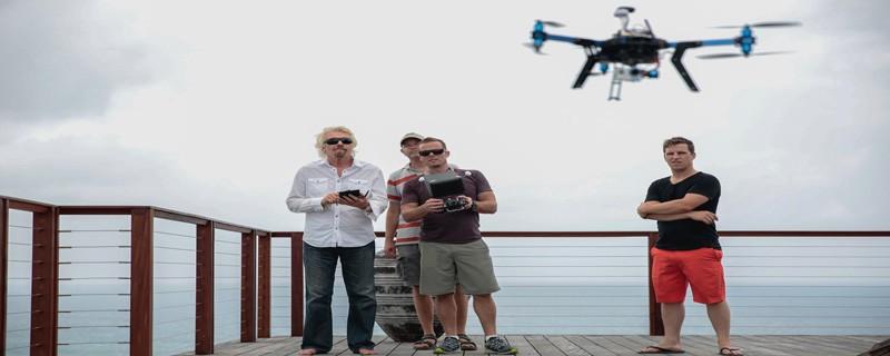 Drone Visit to Richard Branson's Island