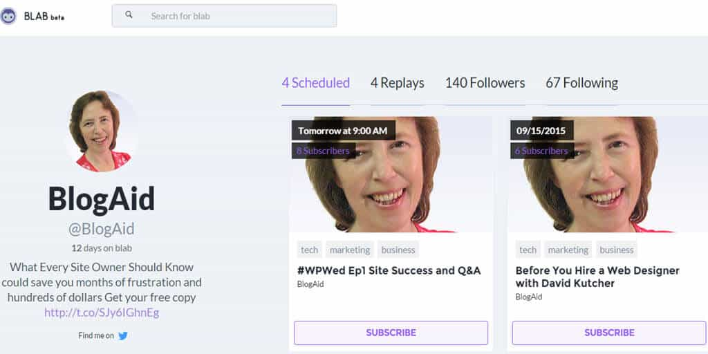 Learn to Blog, Blab and More With @BlogAid